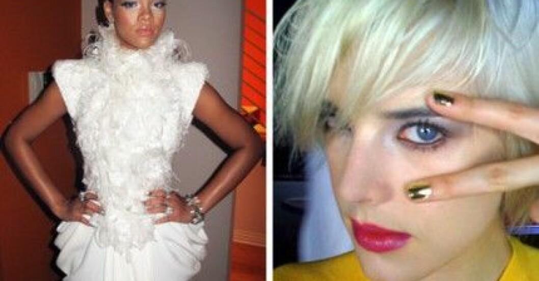 Rihanna och Agyness Deyn med naglar från Minx.