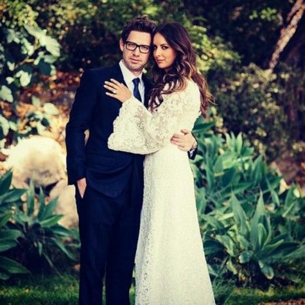 Det vackra brudparet Asher Levin och Molly Fishkin.