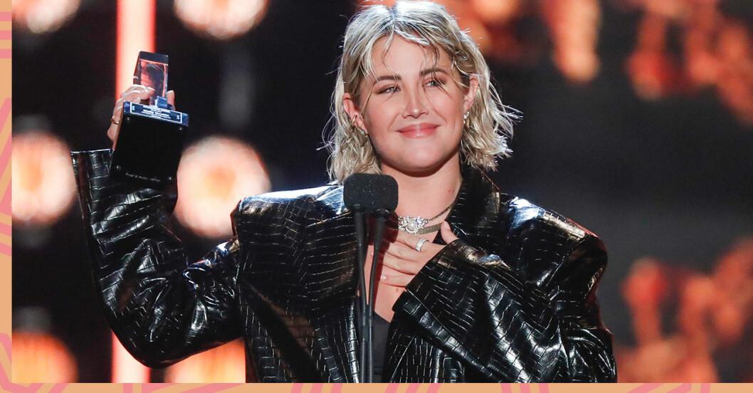 Molly Sandén var en av alla vinnare på Grammisgalan 2020
