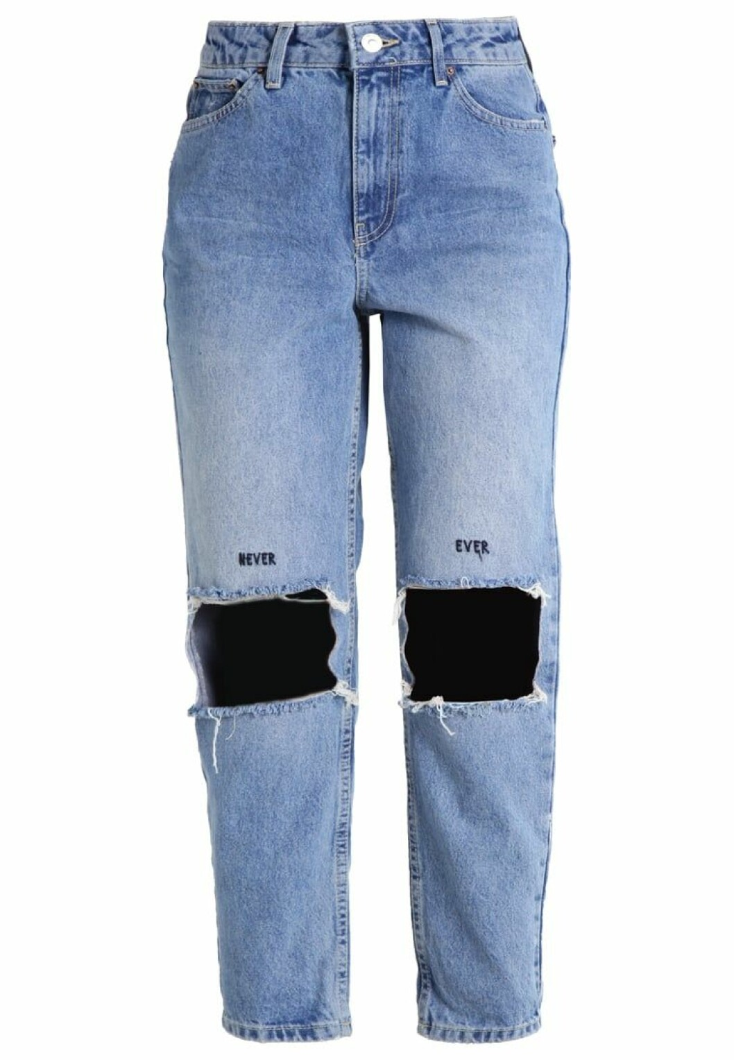 mom jeans slitna