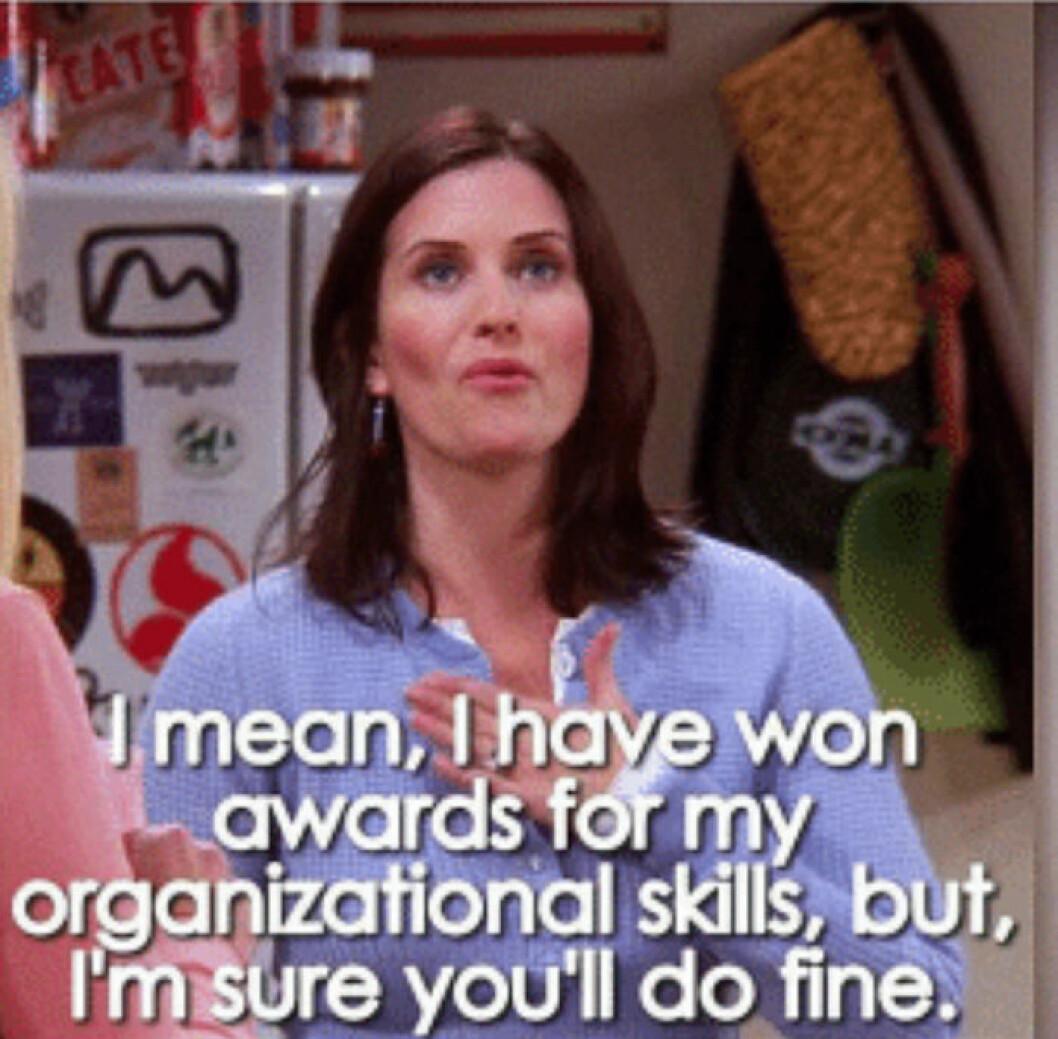 Monica om organisation i Vänner