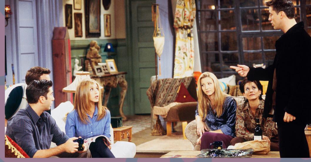 Vänner-gänget hemma hos Monica