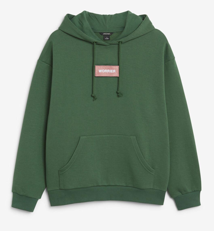 Grön hoodie från Monki