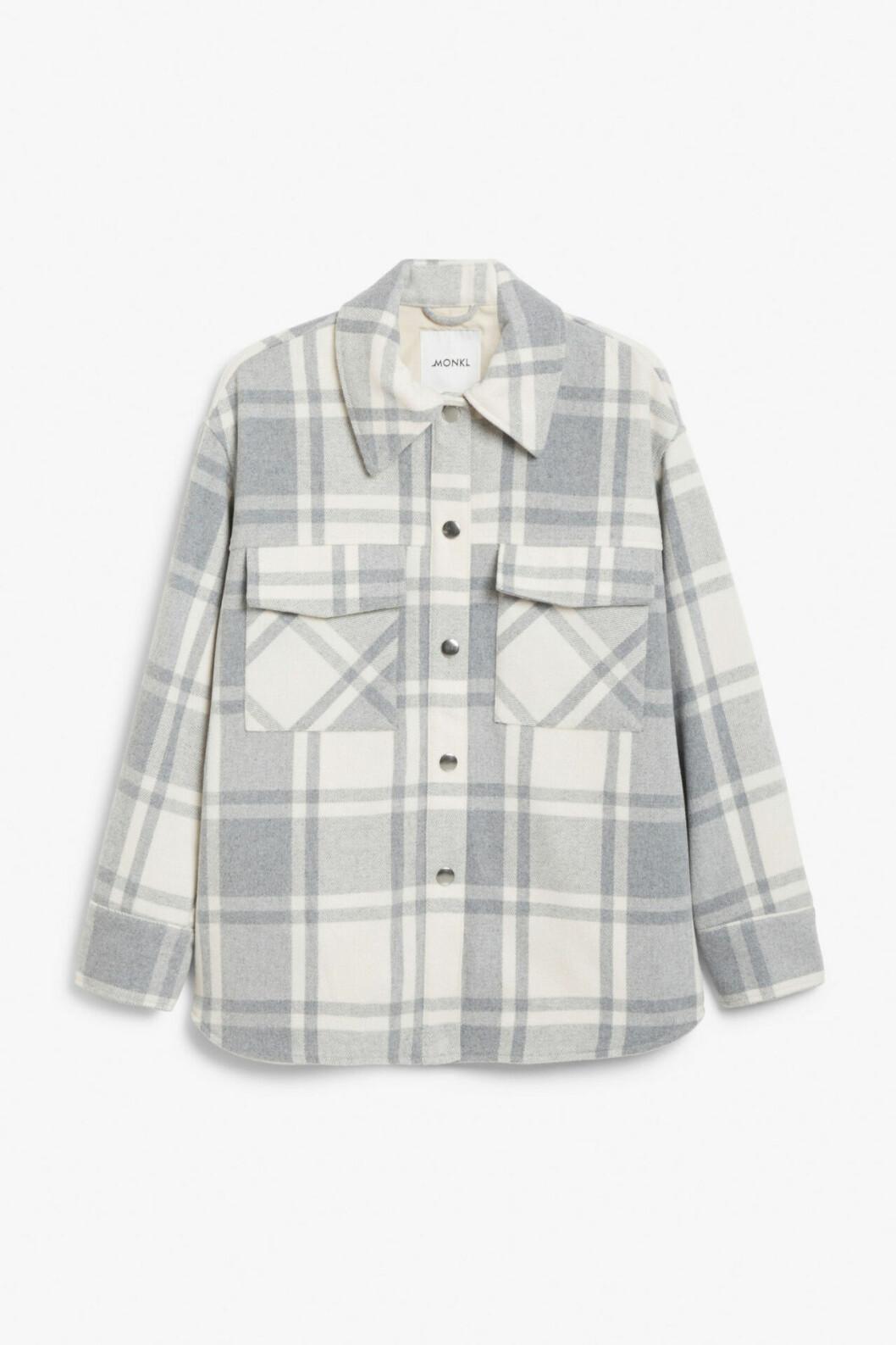 Grå skjortjacka från Monki