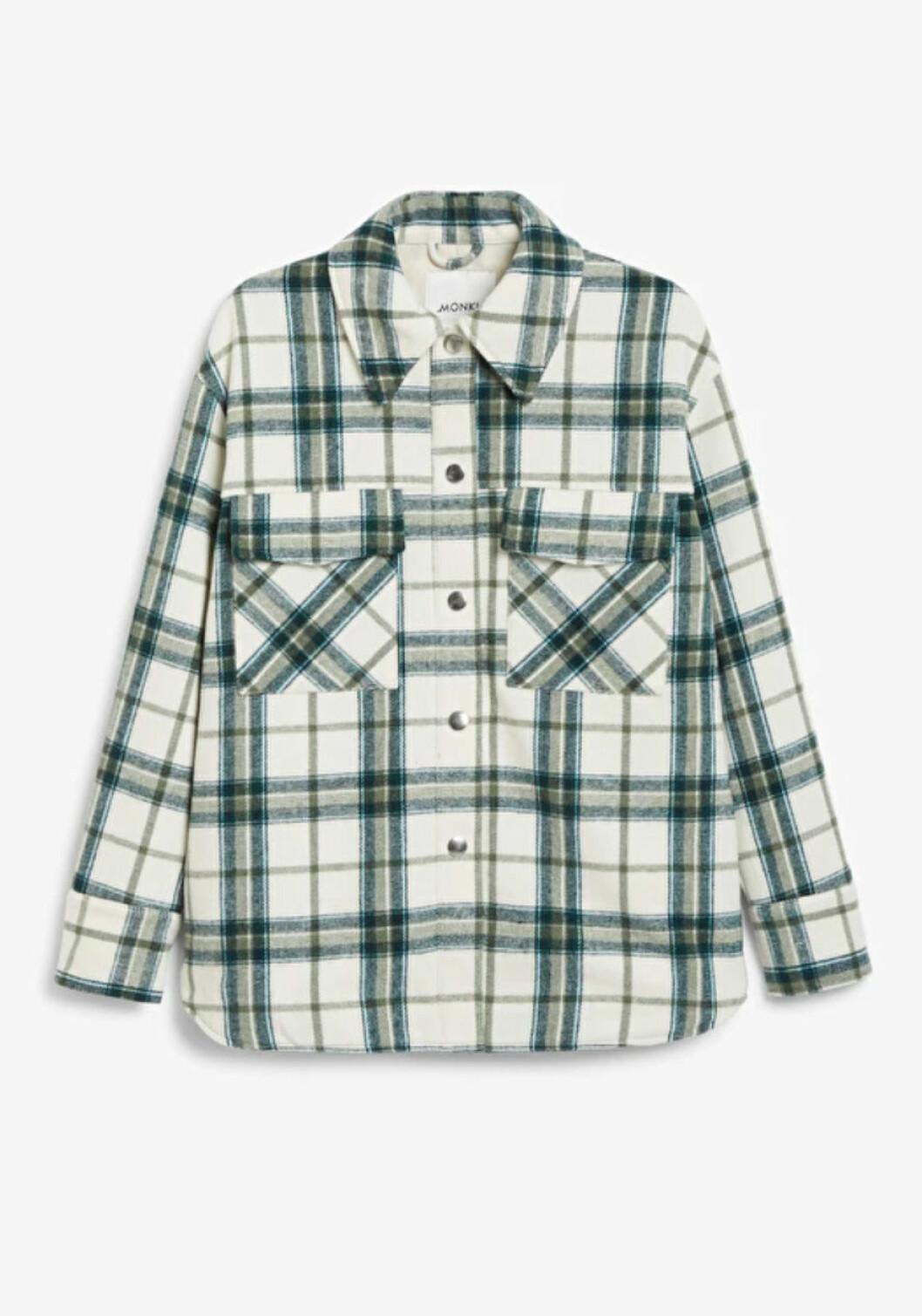 Grönvit rutig skjortjacka från Monki