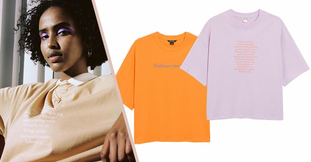 Monki släpper t-shirts med tryck för att belysa psykisk hälsa