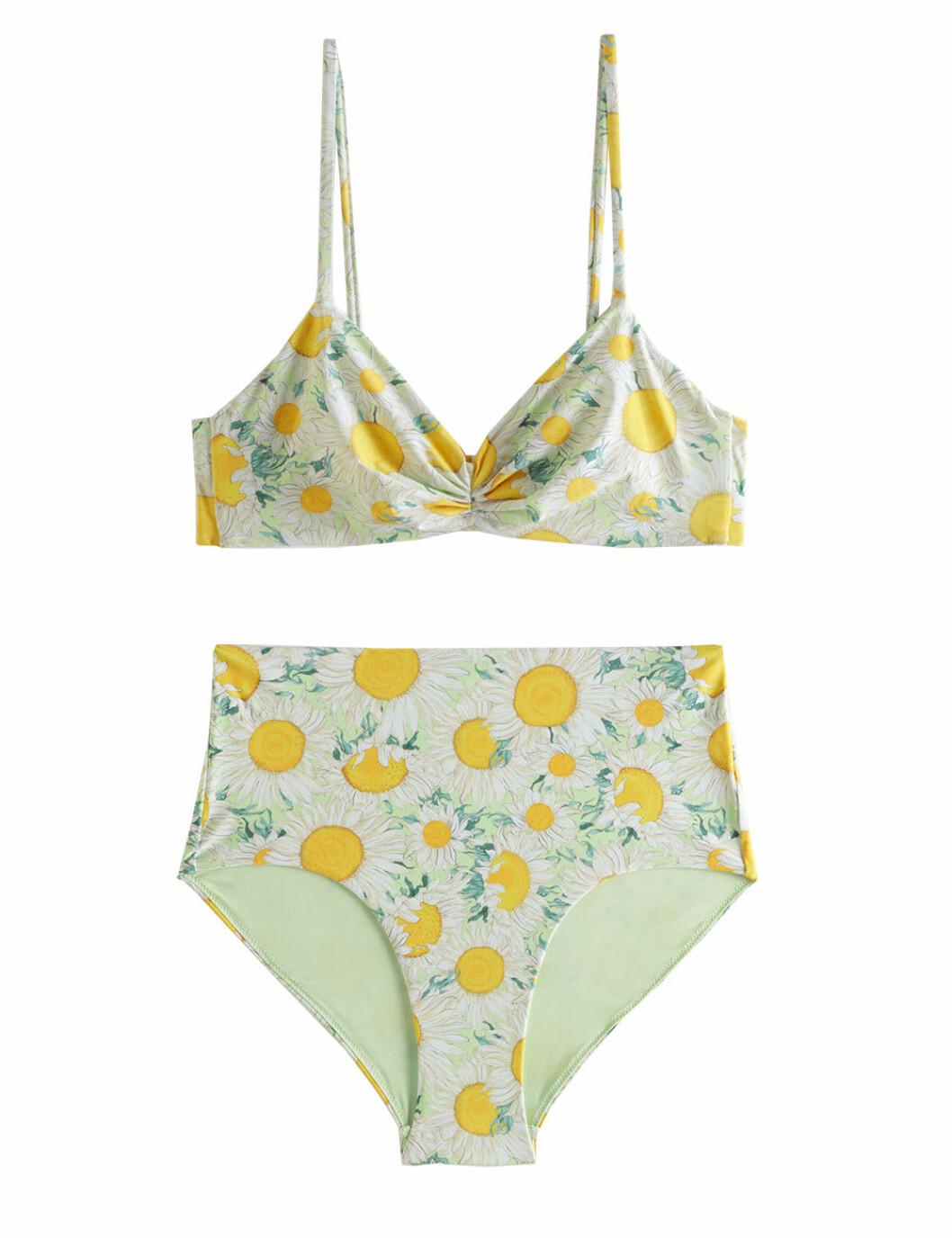 Mönstrad bikini med hög midja för dam till 2020