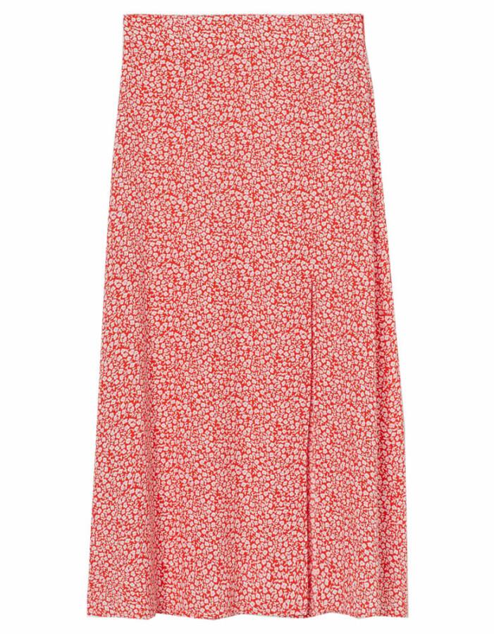 röd blommig kjol