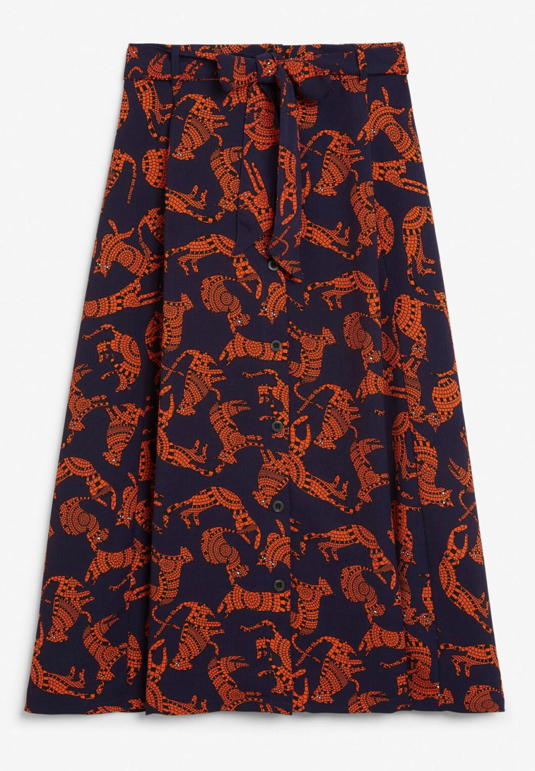 Mönstrad kjol till hösten