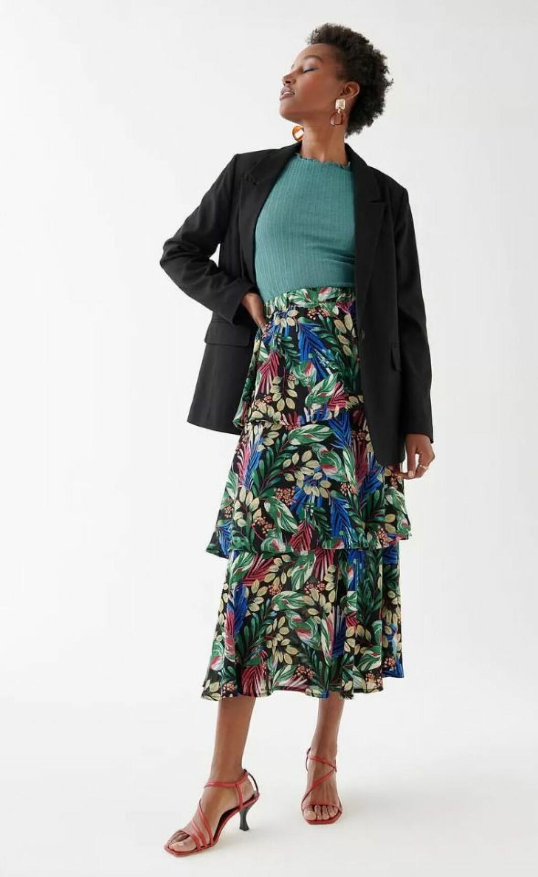 Mönstrad kjol från Gina tricot