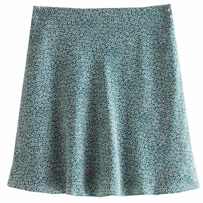 grön mönstrad kjol från & other stories