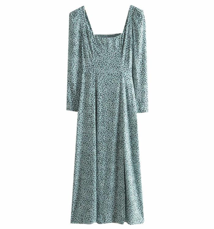 mönstrad klänning & other stories