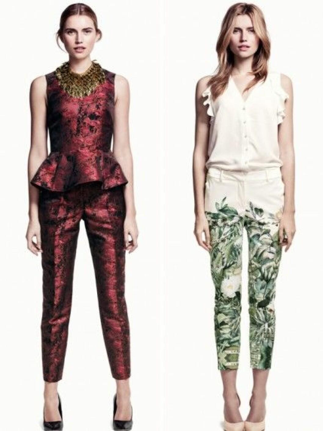 Mönstrade byxor från H&M.