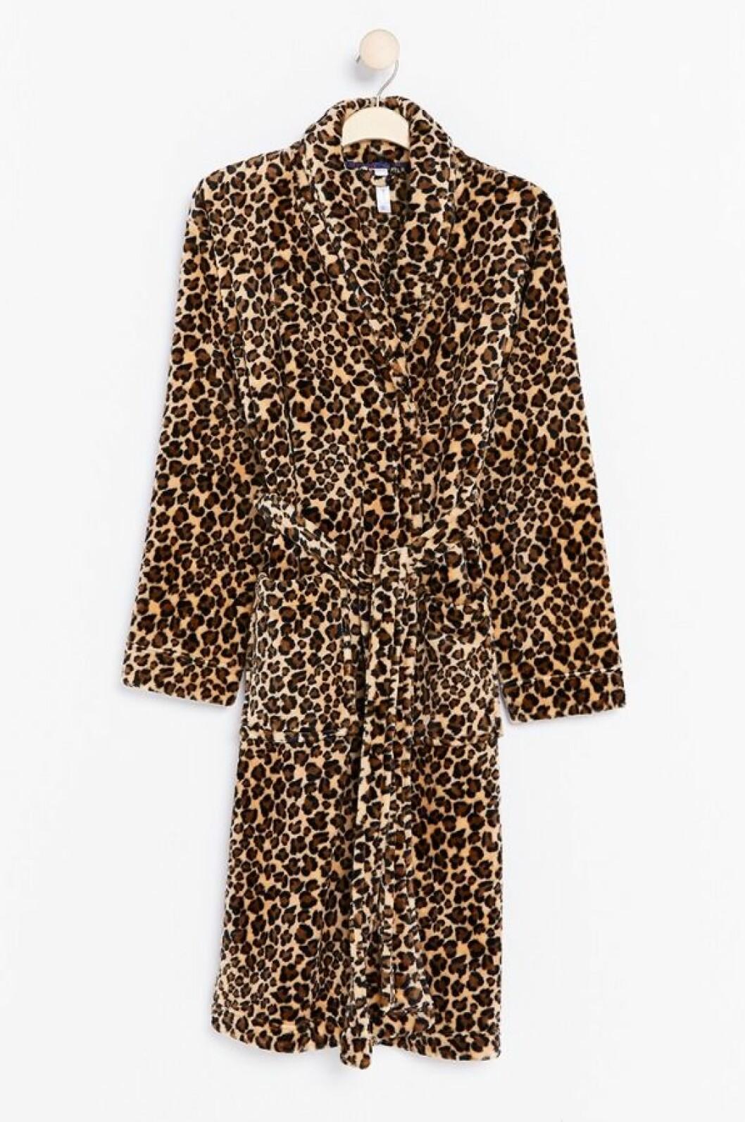 Leopardmönstrad morgonrock