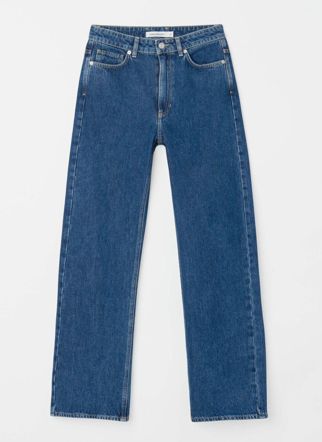 Blå jeans med raka ben för dam till våren 2020