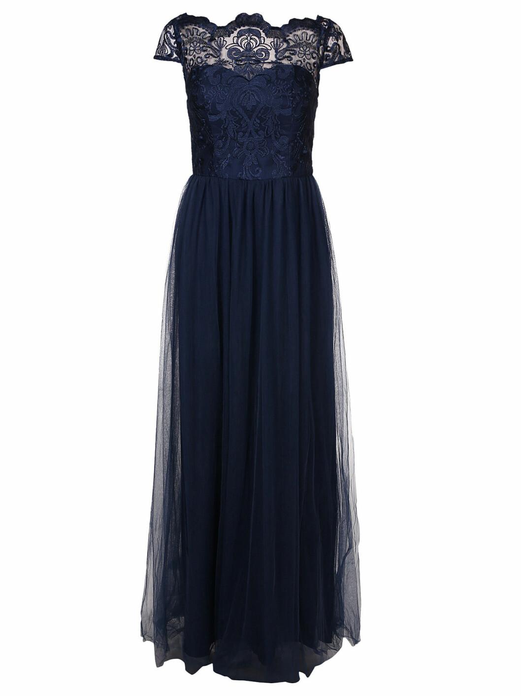 mörkblå långklänning nyår