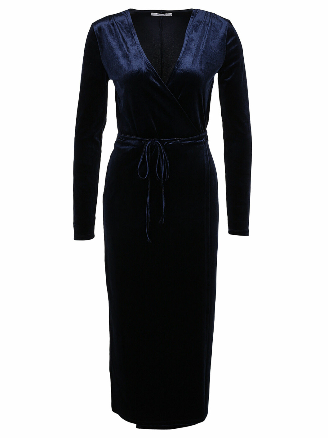 mörkblå sammet klänning