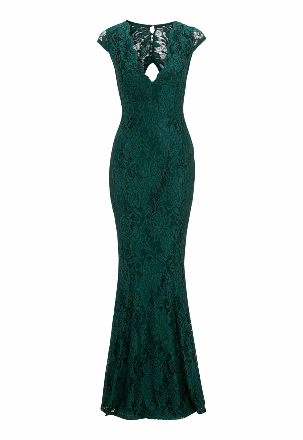 Grön spetsklänning till balen 2019