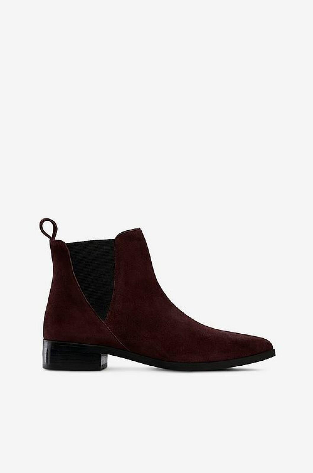Mörkröd boots från Ellos