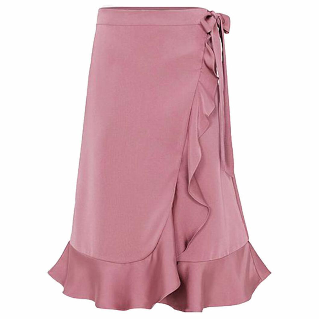 Knälång mörkrosa kjol från By Malin