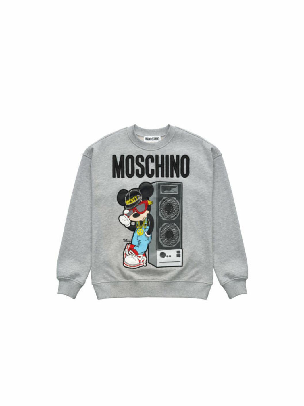 Musse Pigg på en grå sweatshirt Moschino [tv] H&M