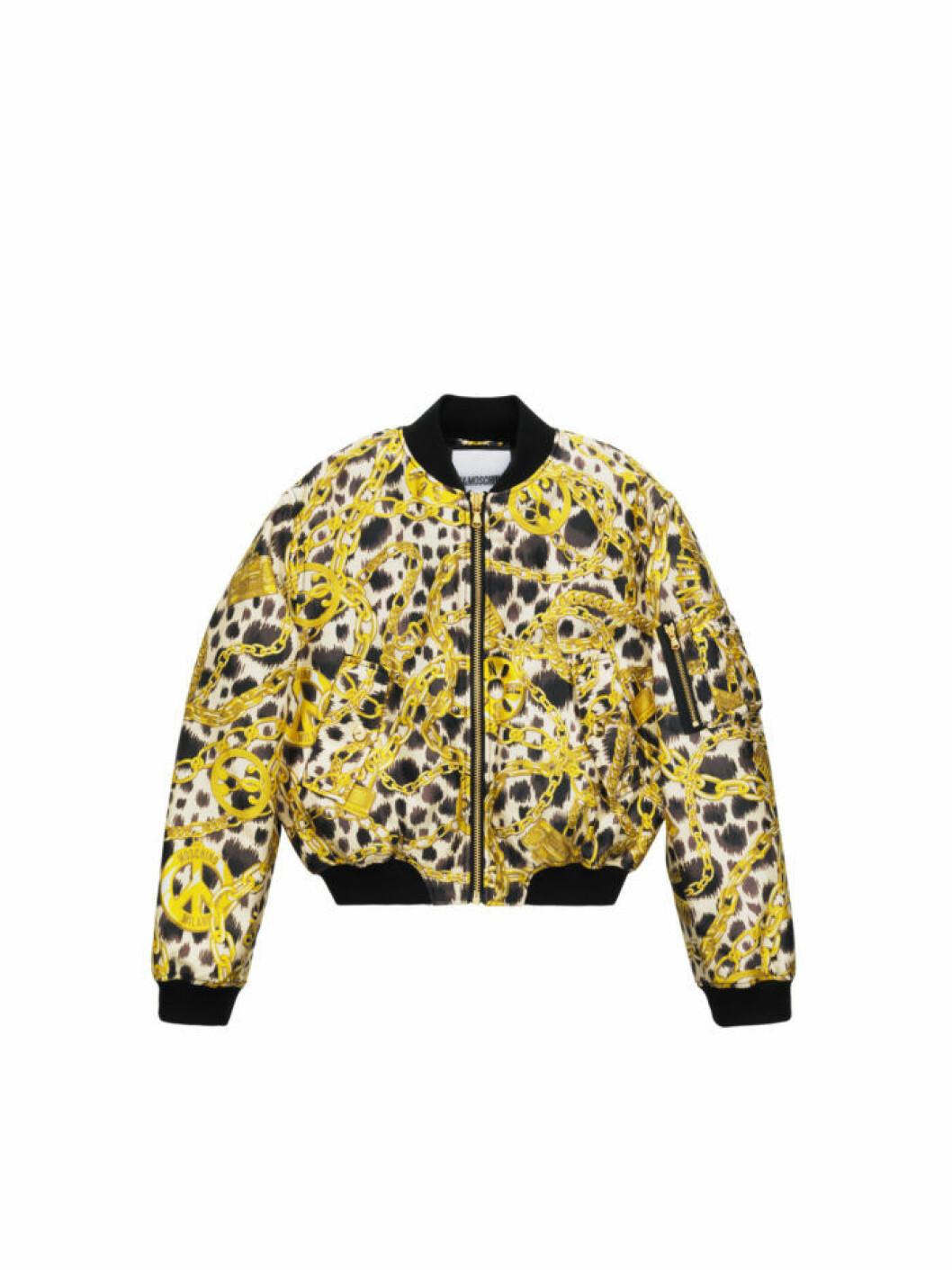 Bomberjacka med leopardprint och guldkedjor Moschino [tv] H&M