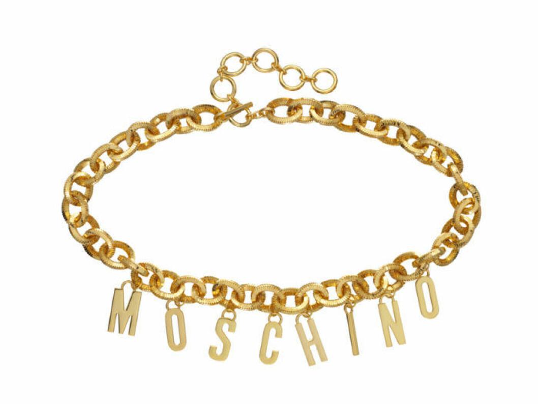 Armband med guldkedja och logga Moschino [tv] H&M