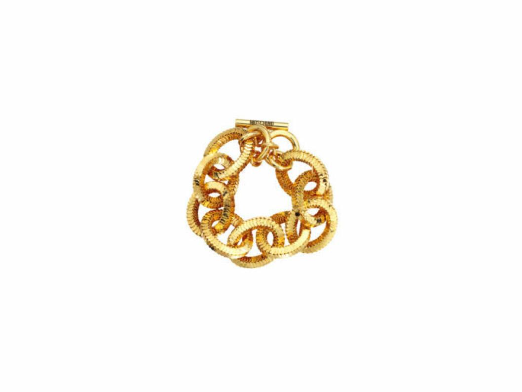 Tjockt guldigt armband Moschino [tv] H&M