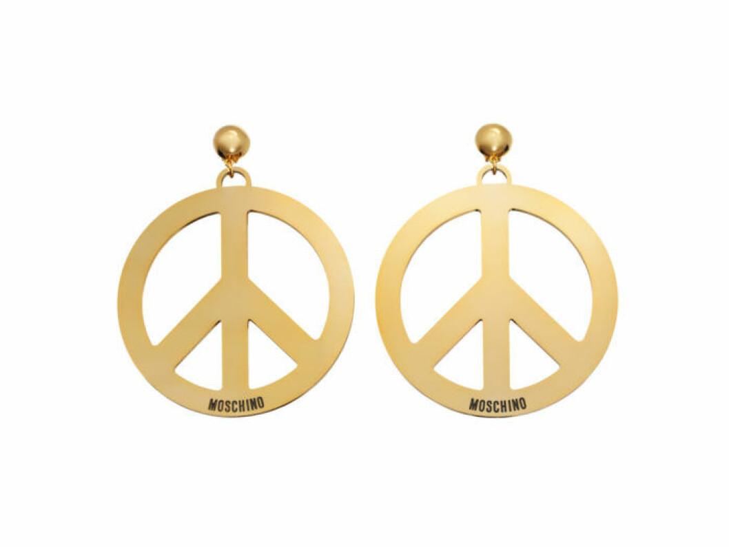 Örhängen med peacetecken Moschino [tv] H&M