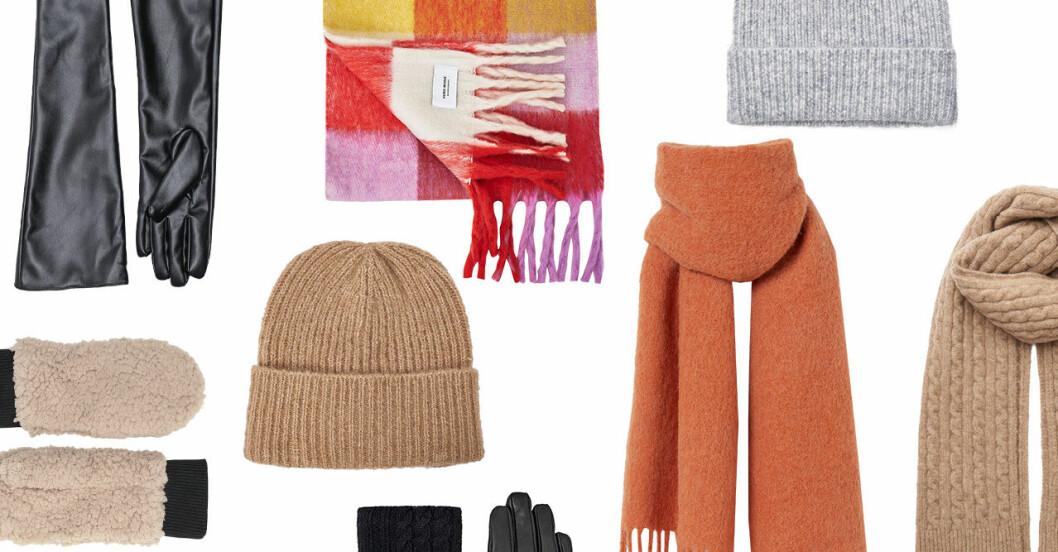Snygga mössor, halsdukar och handskar för dam till vintern 2019