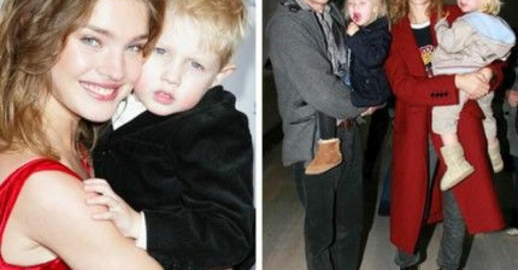 Natalia och Justin med barnen Viktor, Neva och