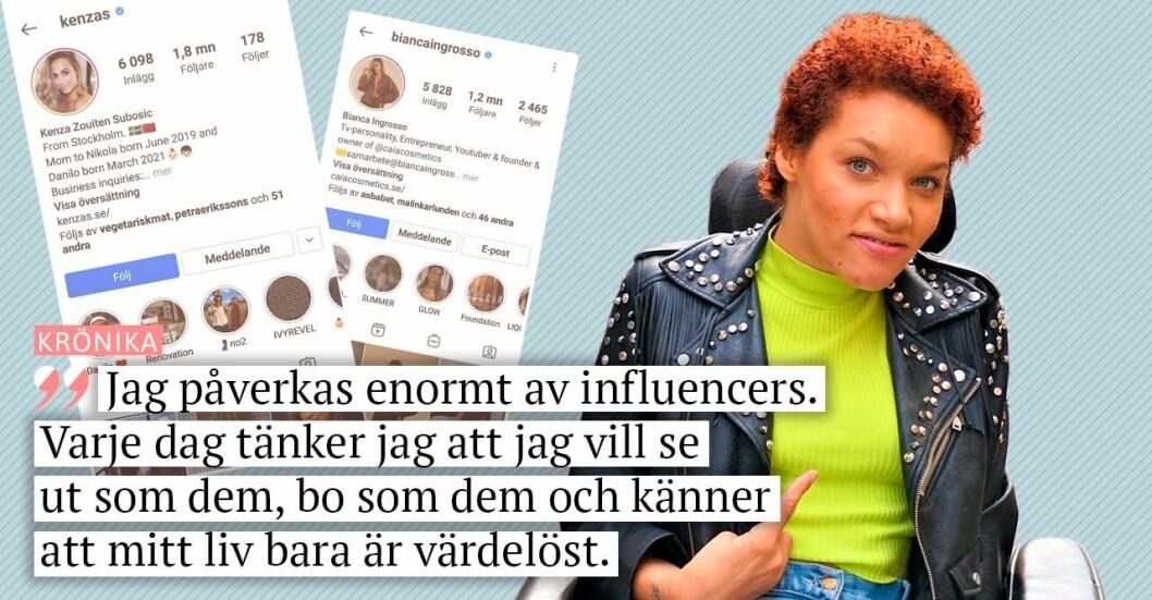 Baaams bloggare Natalie Chanise Eriksson skriver krönika om influencers