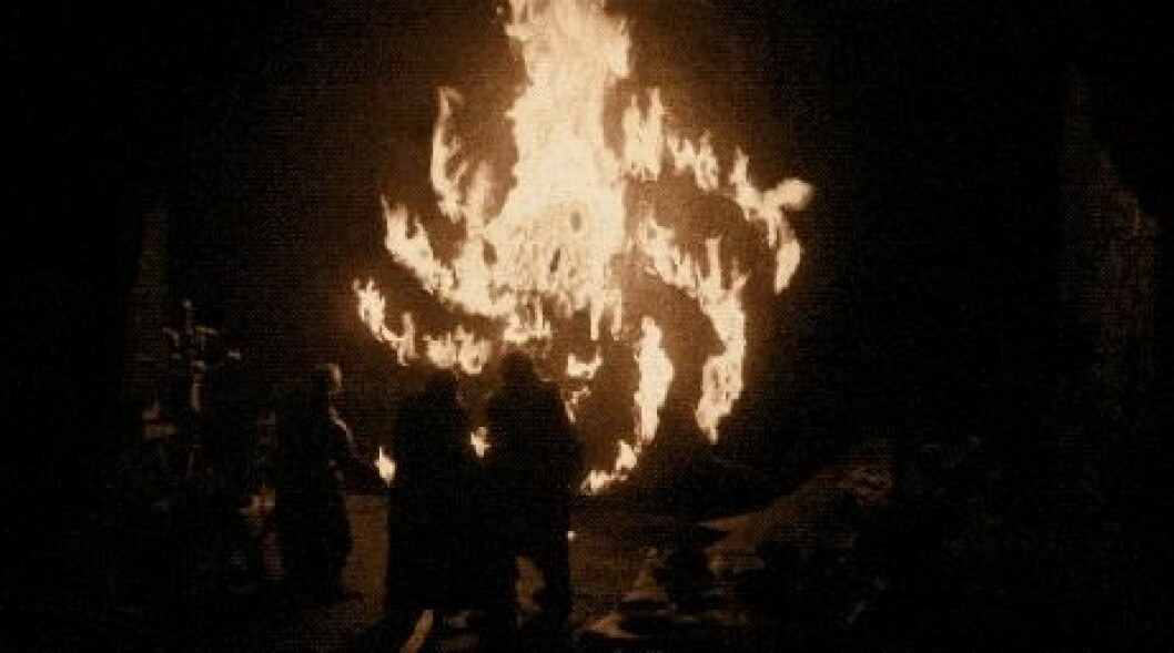 En rörlig bild på Ned Umbers dödsfall i tv-serien Game of Thrones åttonde och sista säsong.