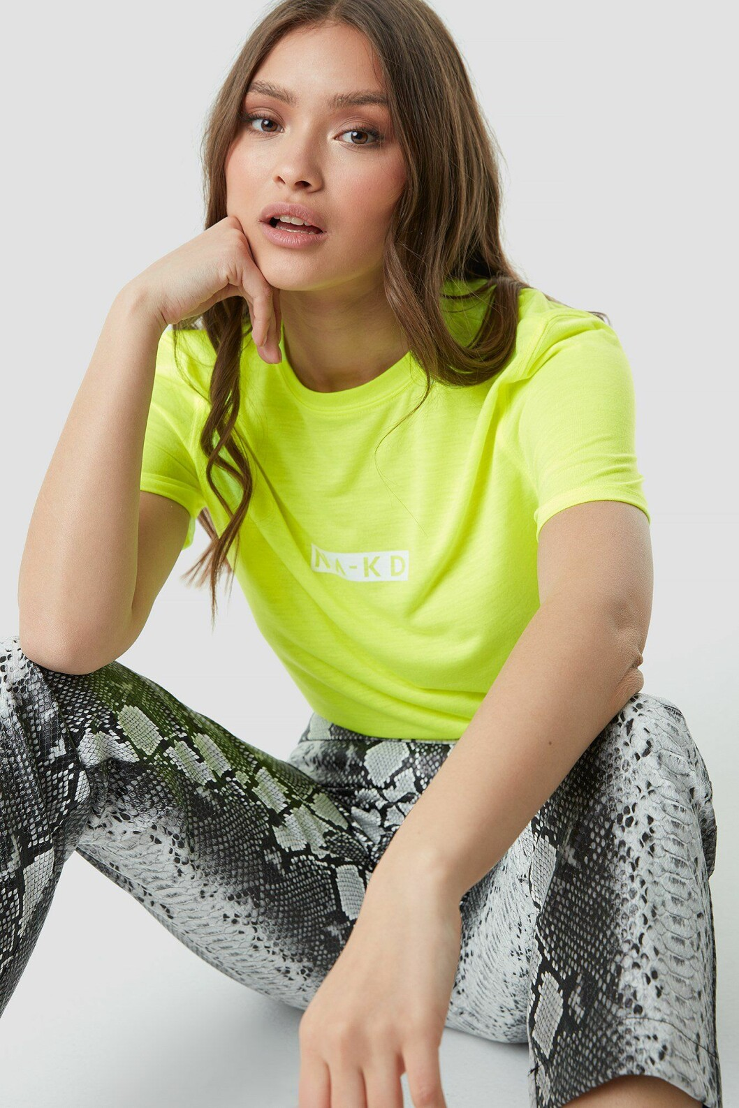 Neongul t-shirt till våren 2019