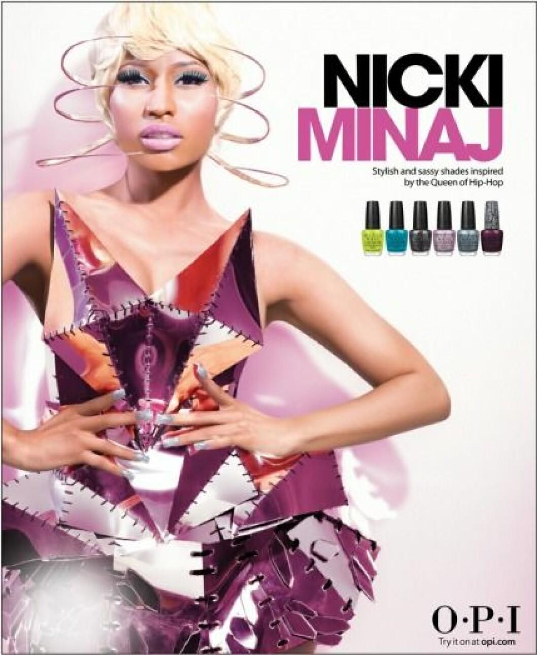 Nicki Minaj OPI Nail Lacquer Collection 2012.