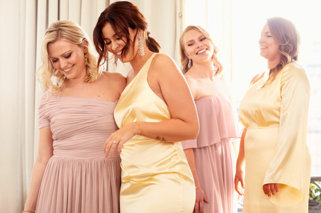 Nicole Falciani släpper bröllopskollektion –fina tärnklänningar