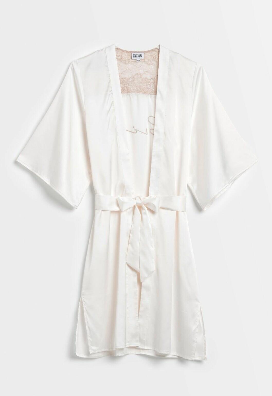 Nicole falciani för Bubbleroom – vit bride robe