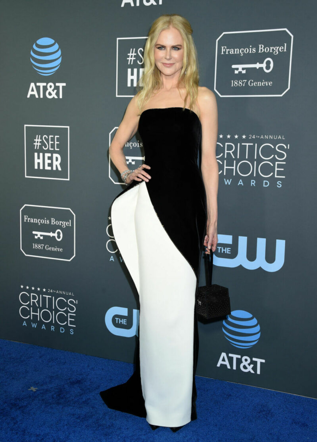Nicole Kidman på röda mattan på Critics Choice Awards 2019