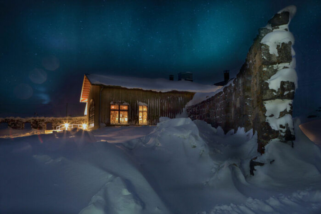 Utsidan av Niehku Mountain Villa