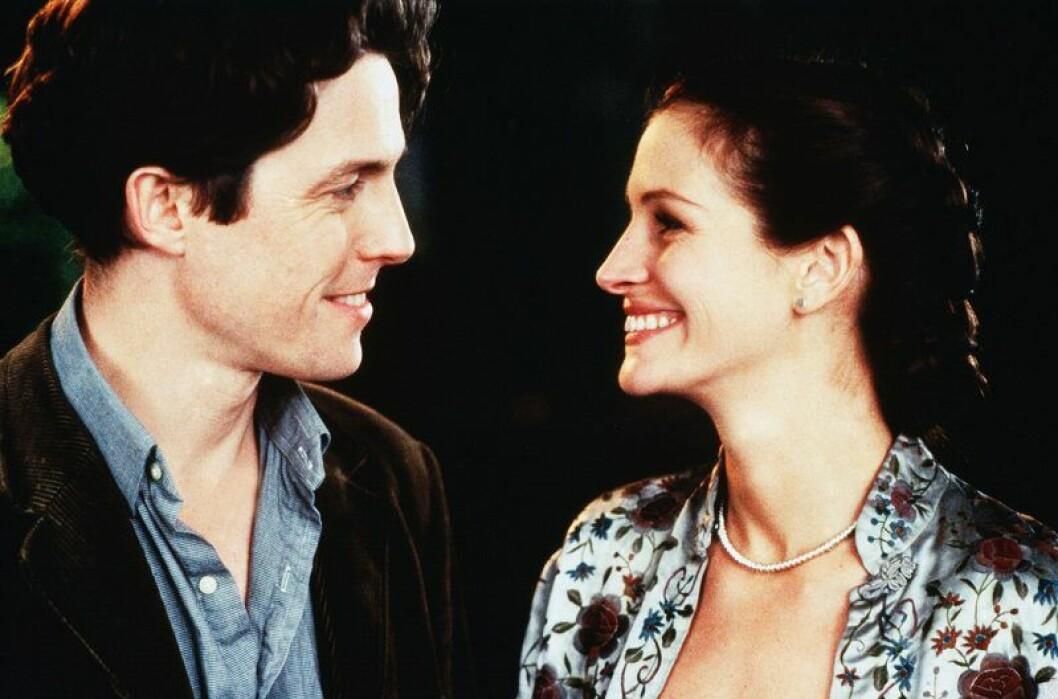 En bild på Hugh Grant och Julia Roberts i filmen Notting Hill.