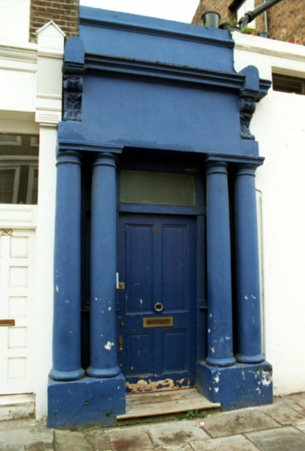 notting hill blå dörr