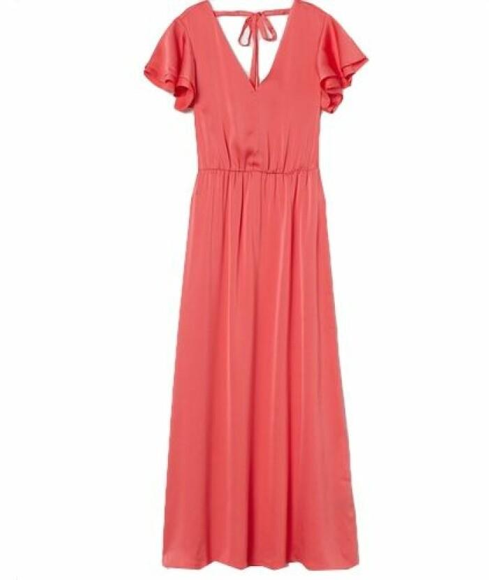 Långklänning med volangarmar från H&M