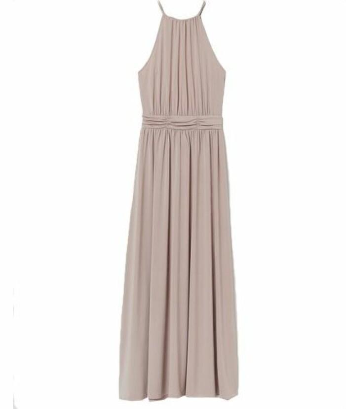 Beige långklänning från H&M till balen