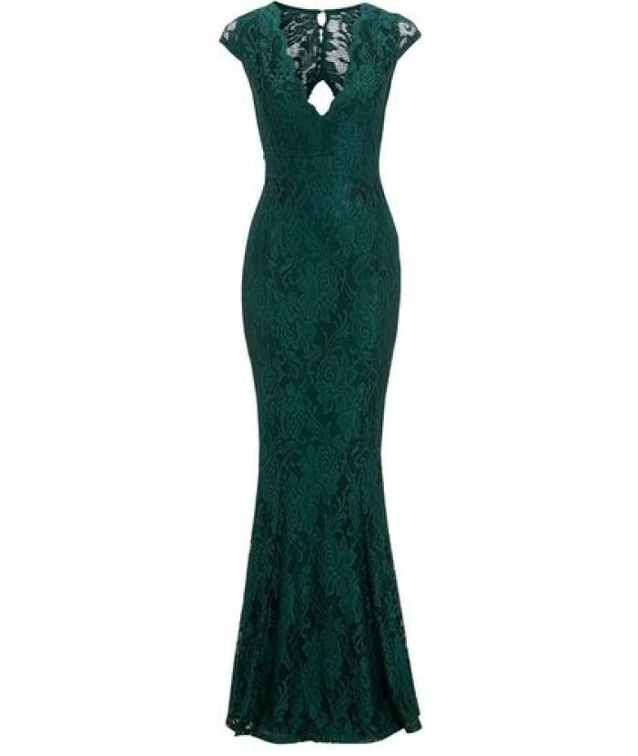Grön spetsklänning till balen