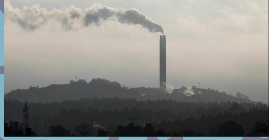 Bild på utsläpp som symboliserar den nya klimatlagen 2021.