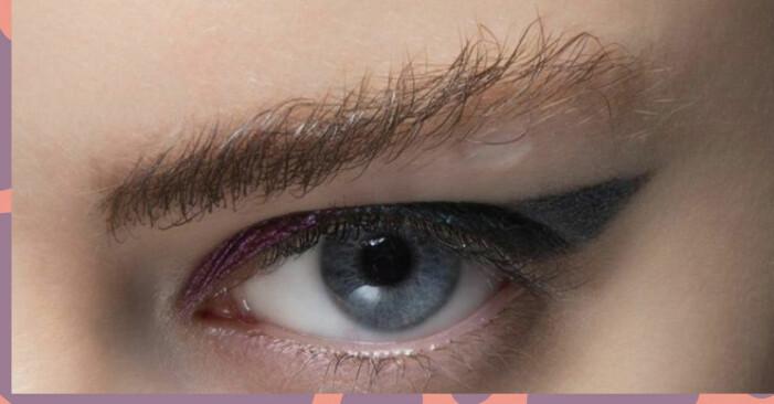 Ögonbryn som står rakt upp, så kallat brow lift eller soap brow.