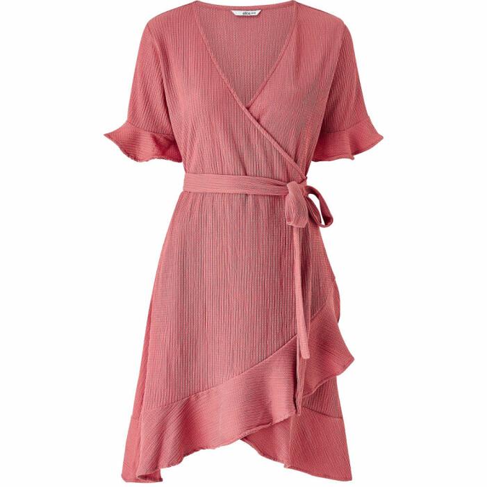 rosa omlottklänning från Ellos