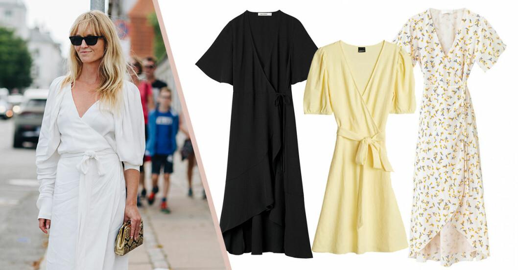 Snygga omlottklänningar för dam till sommaren 2020