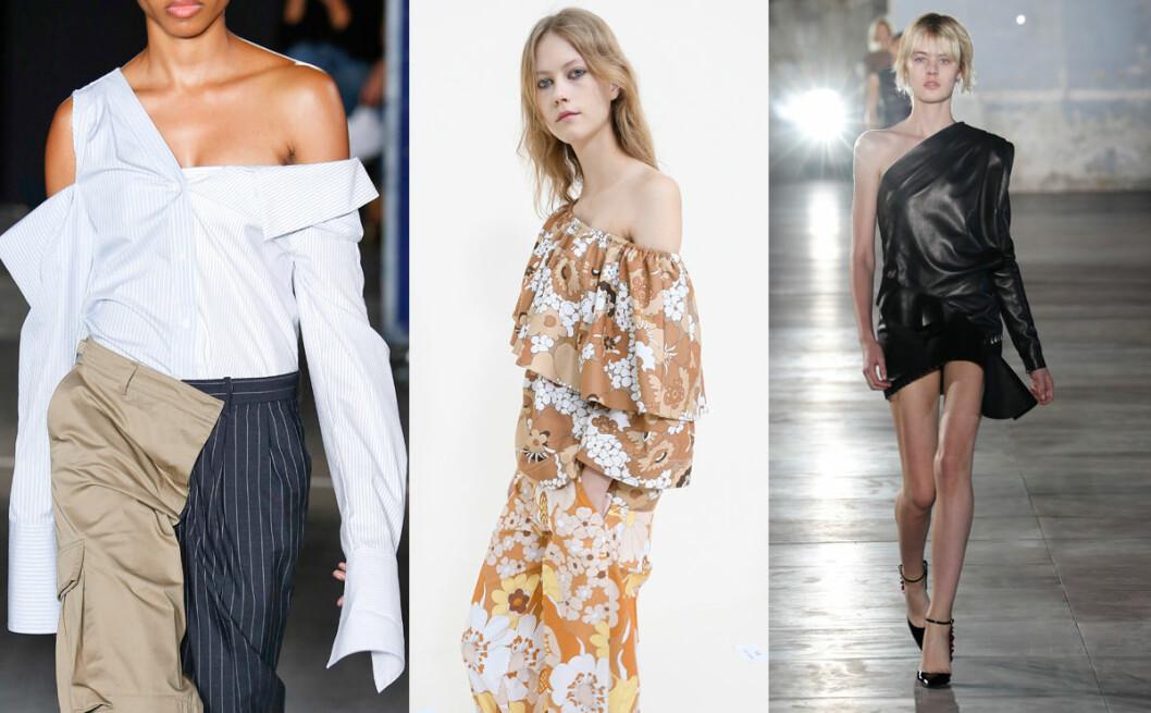 one shoulder vårens trender 2017