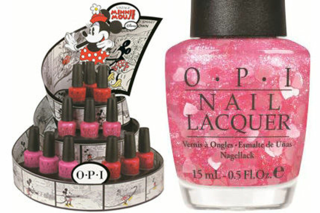 """Vintage Minnie Mouse by OPI i färgen """"Nothin' Mousie 'Bout It""""."""